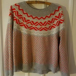 GAP angora fair isle sweater